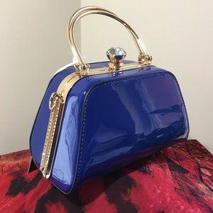 NWT Gramercy💙Grand Vegan Handbag Patent Crystal💙